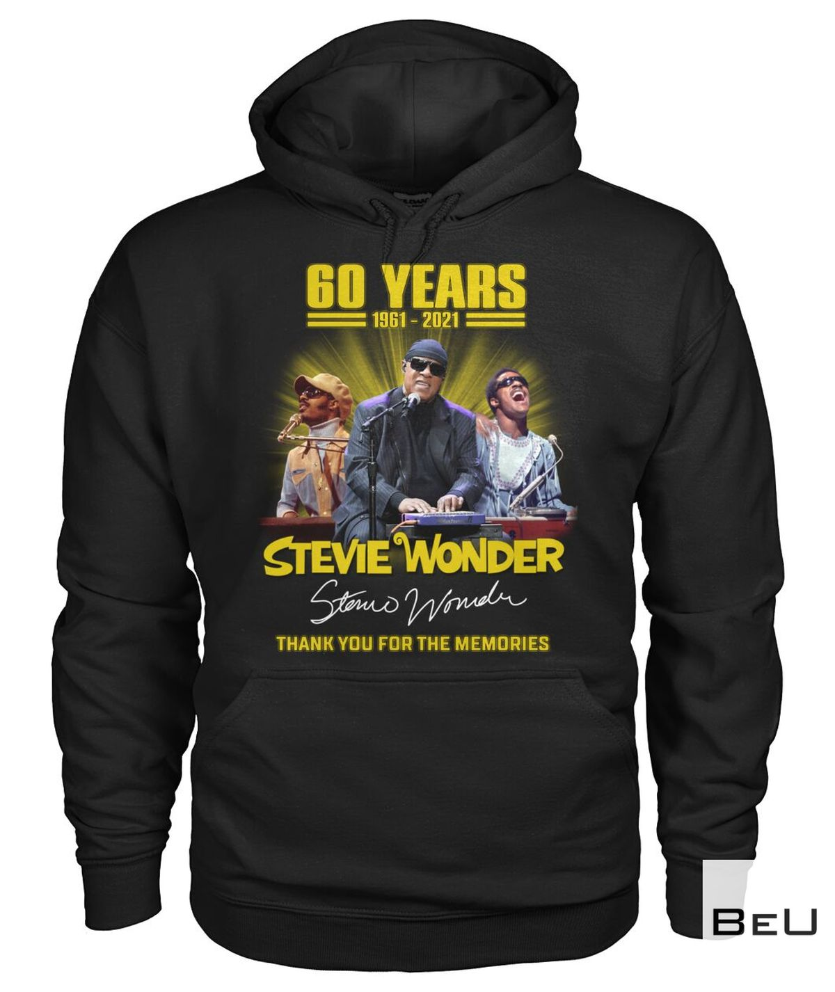 Awesome Stevie Wonder 60 Years Thank You For The Memories Shirt, hoodie, tank top