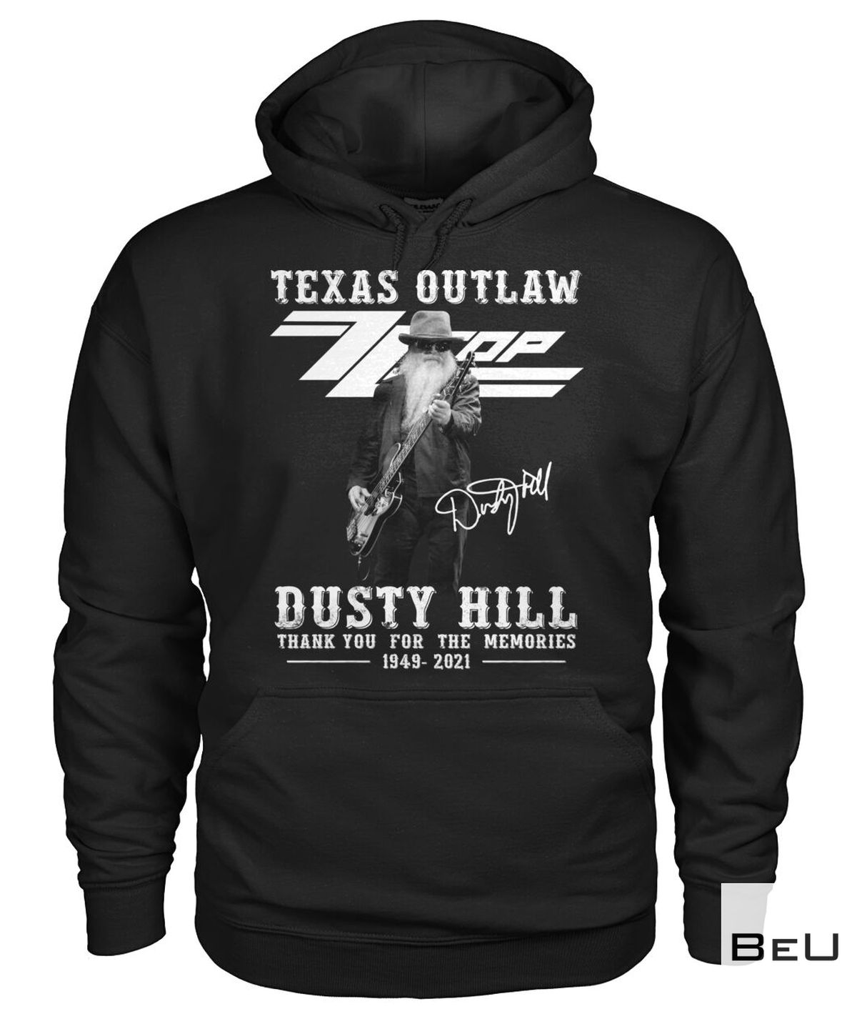 Best Gift Texas Outlaw ZZ Top Dusty Hill Thank You For The Memories Shirt, hoodie