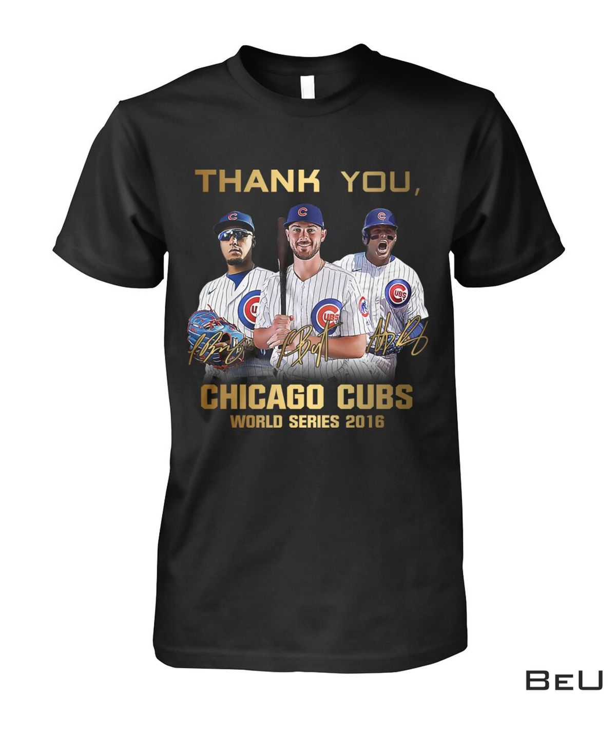 Real Thank You Chicago Cubs World Series 2016 Player Signatures Shirt, hoodie, tank top