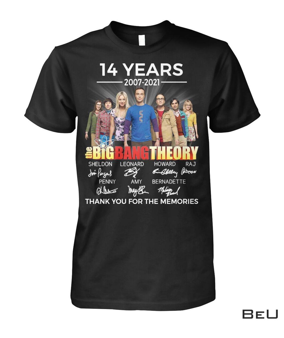 Top Rated The Big Bang Theory 14 Years 2007 2021 Shirt, hoodie, tank top