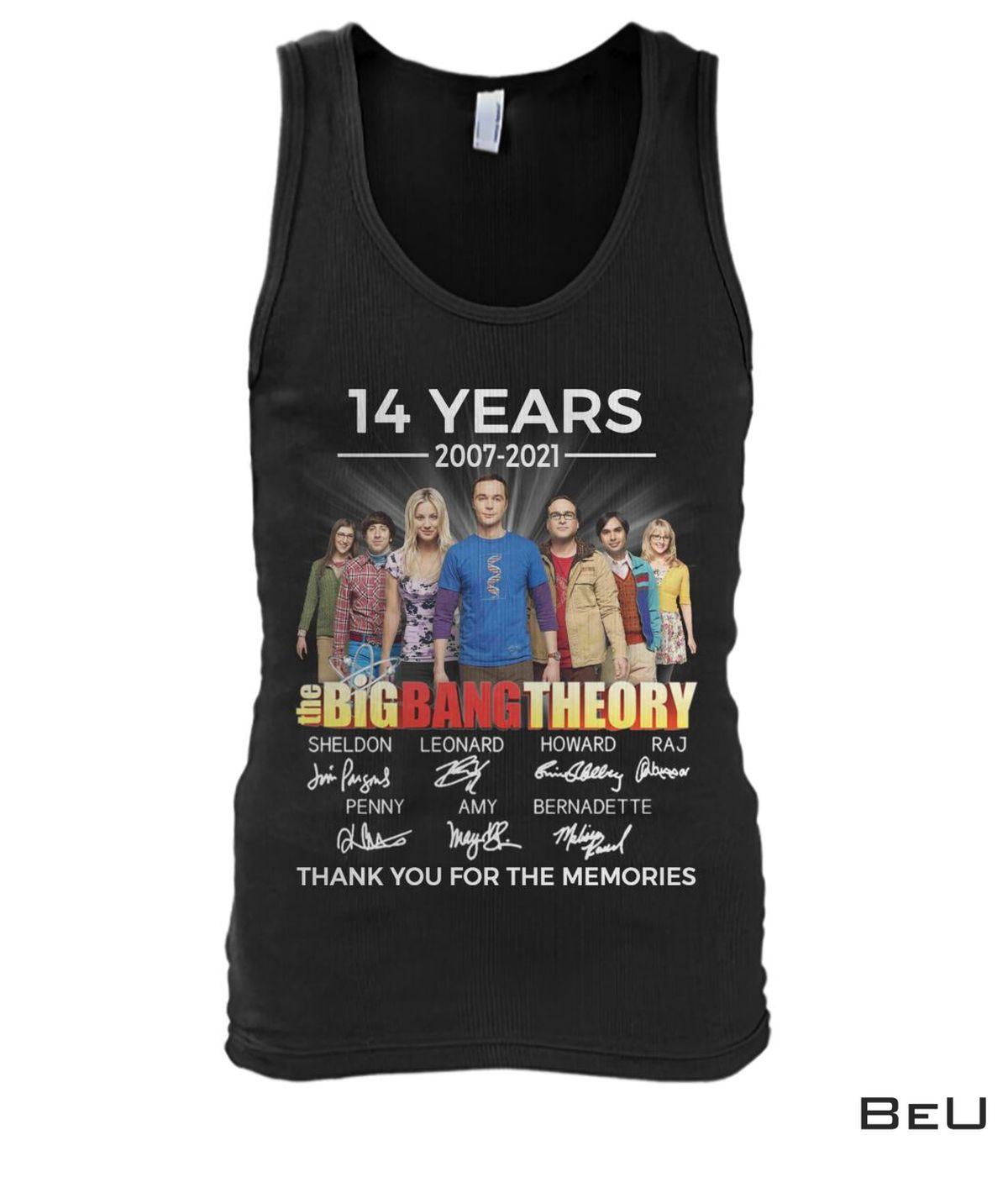 US Shop The Big Bang Theory 14 Years 2007 2021 Shirt, hoodie, tank top