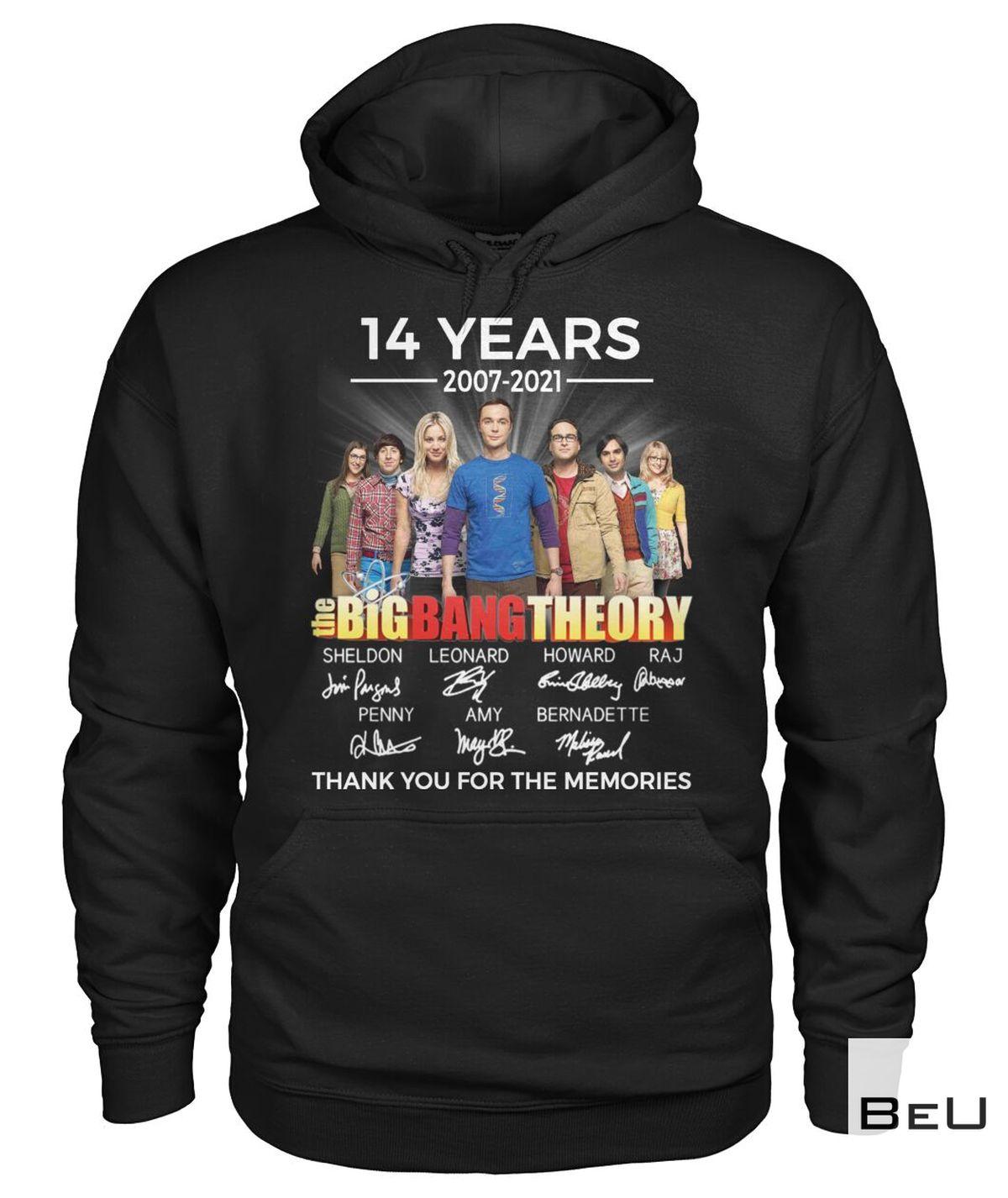 Fantastic The Big Bang Theory 14 Years 2007 2021 Shirt, hoodie, tank top