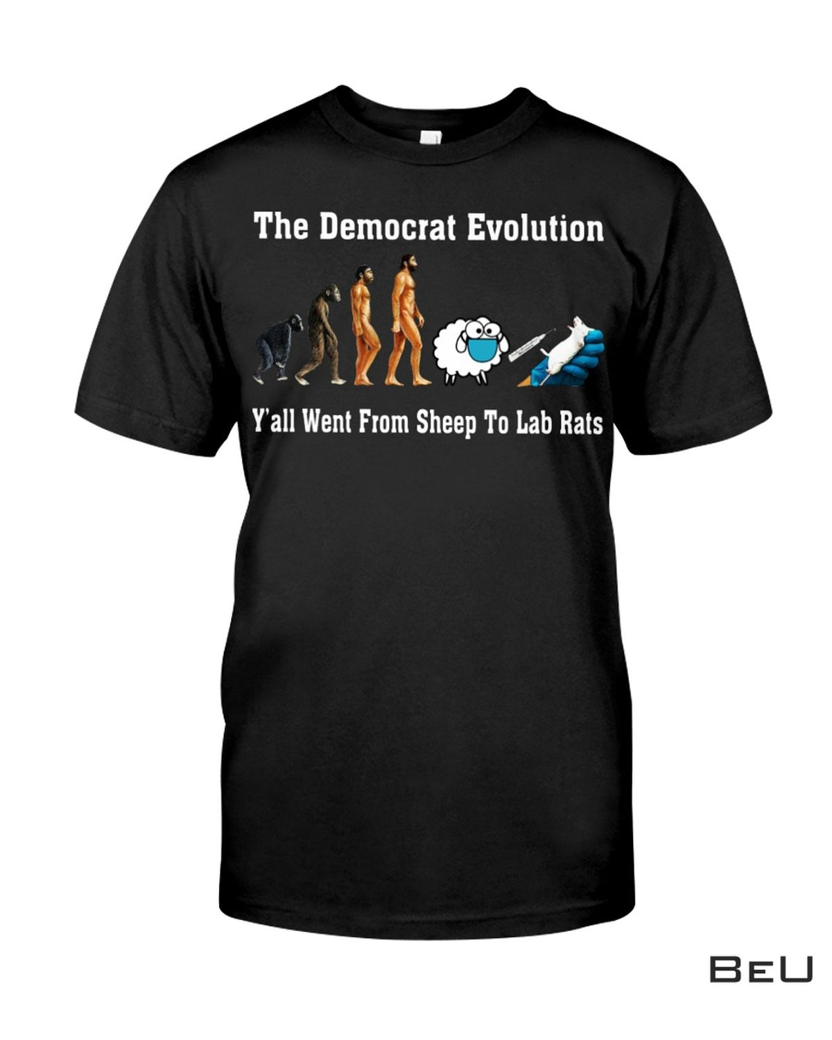 The Democrat Evaluation Shirt From Sheep To Labs Rat Shirt, hoodie, tank top