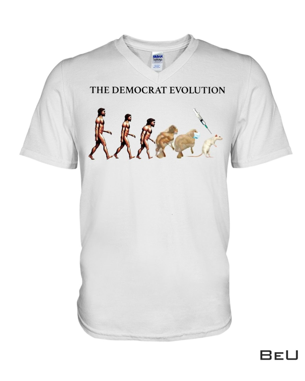 Top The Democrat Evolution Mouse Lab Shirt, hoodie, tank top