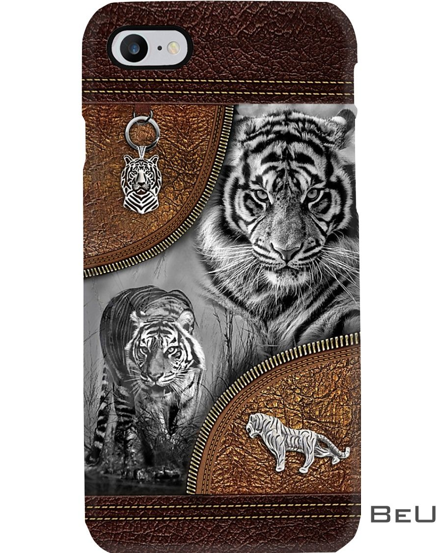 Tiger - Leather Pattern Phone Case