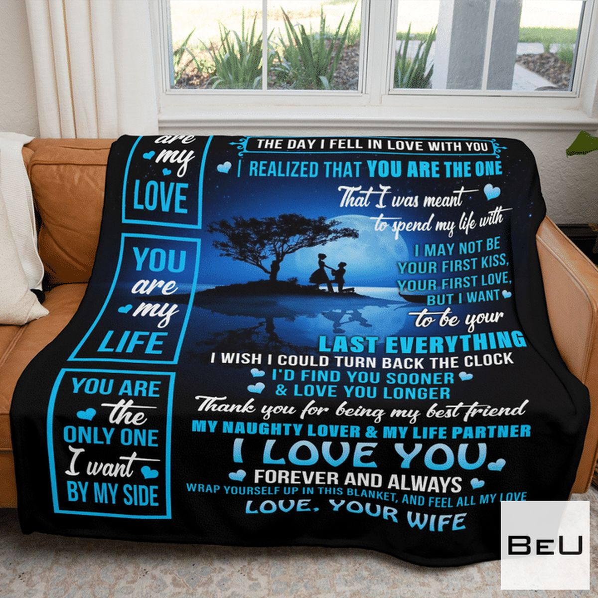 Popular To My Husband Love Your Wife Blanket