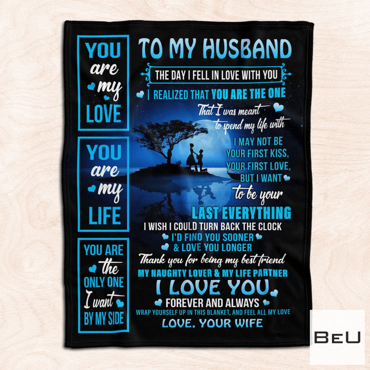 To My Husband Love Your Wife Blanketz