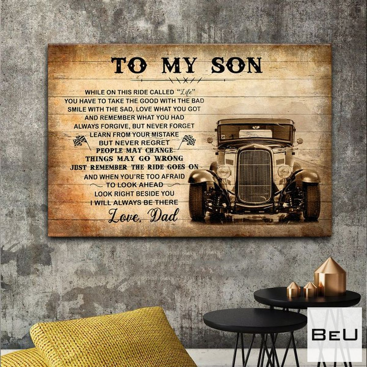Father's Day Gift To My Son Love Dad Poster