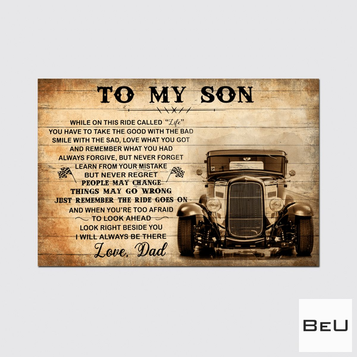 Funny Tee To My Son Love Dad Poster