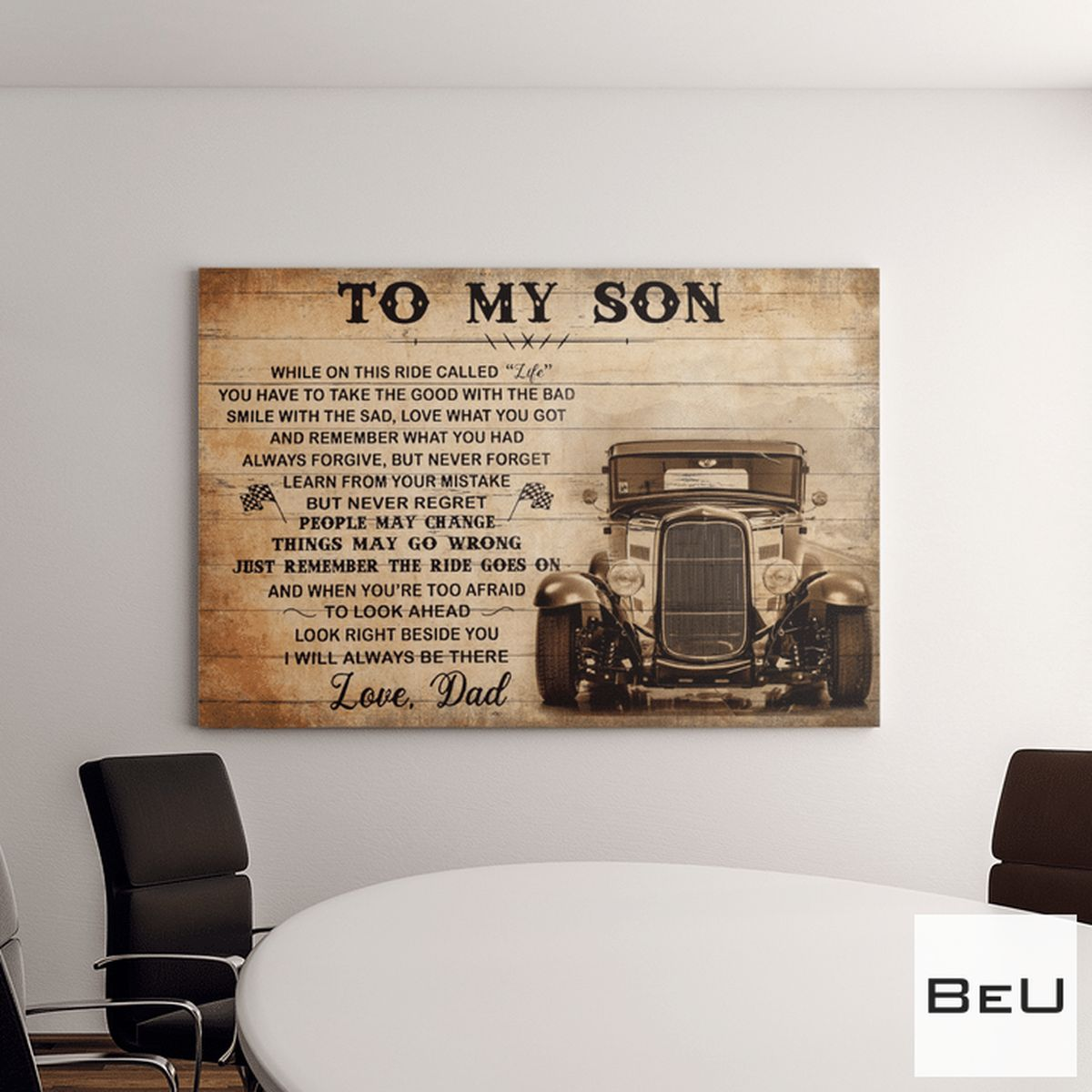 Handmade To My Son Love Dad Poster