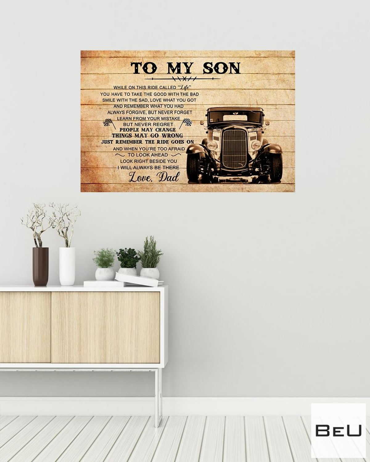To My Son Love Dad Truck Driver Poster a