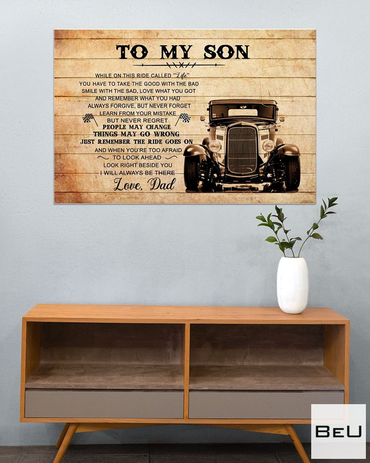 To My Son Love Dad Truck Driver Poster c