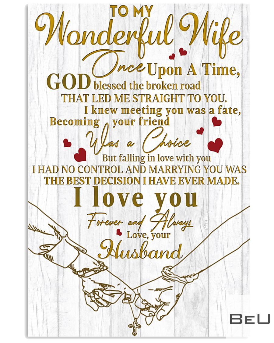 To my wonderful wife Falling in love with you poster