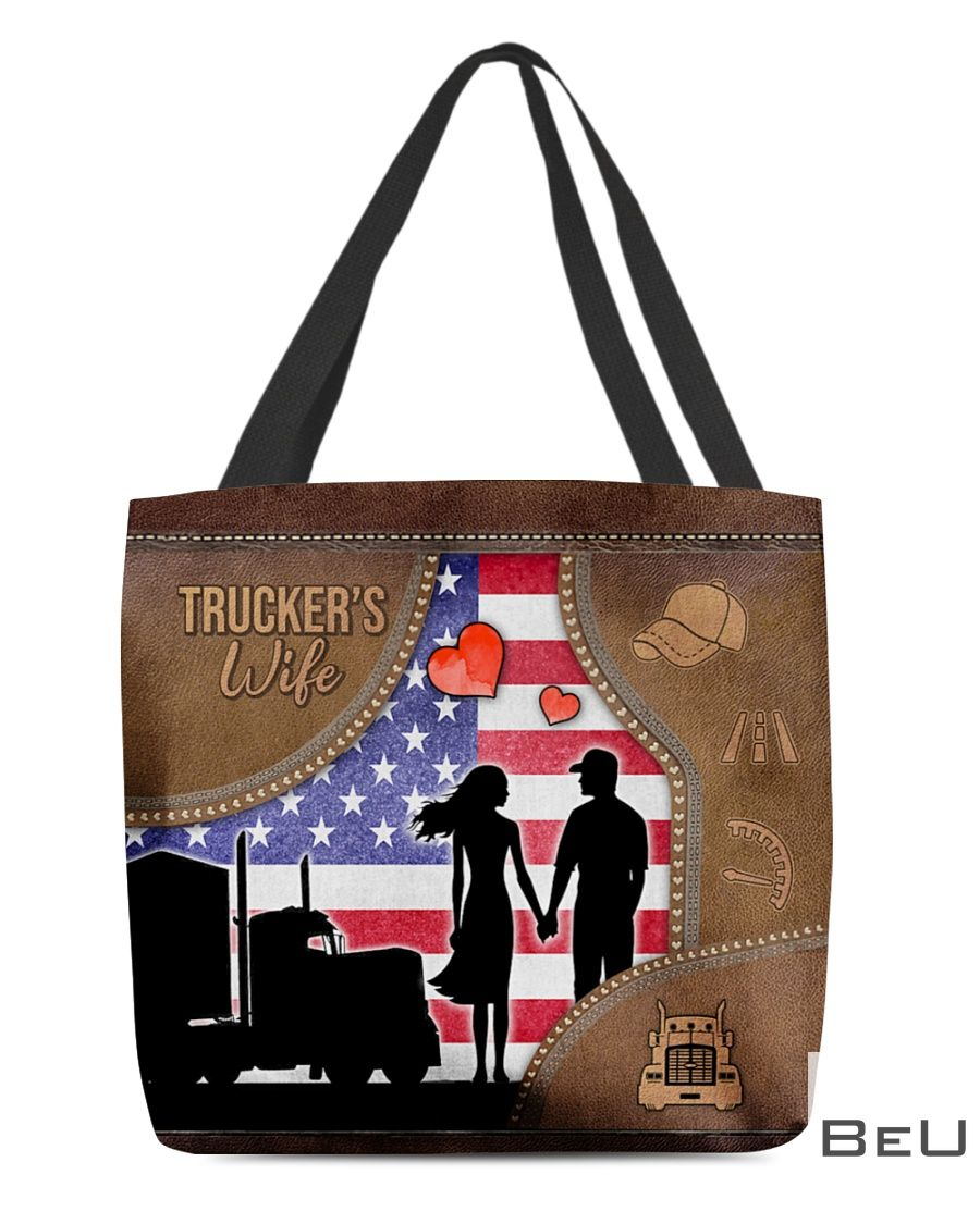 Trucker's Wife as leather tote bag3