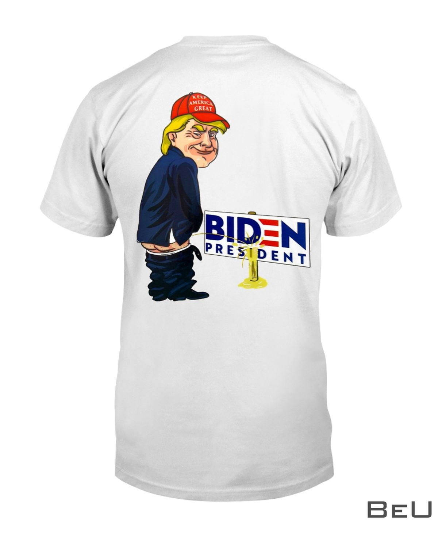 Trump Peeing Pissing on Biden Shirt