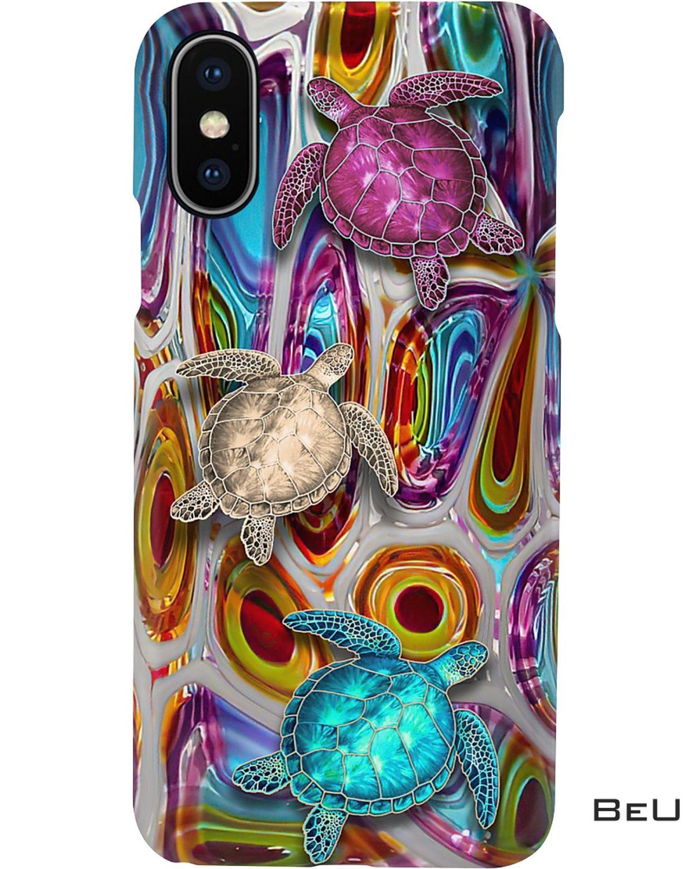 Turtles 3d Pattern Print Phone Case