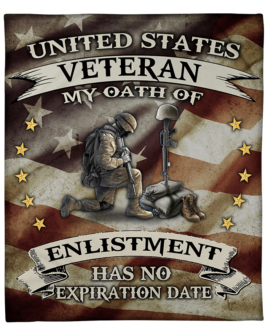 United States Veteran My Oath Of Enlistment Has No Expiration Date Fleece Blanket