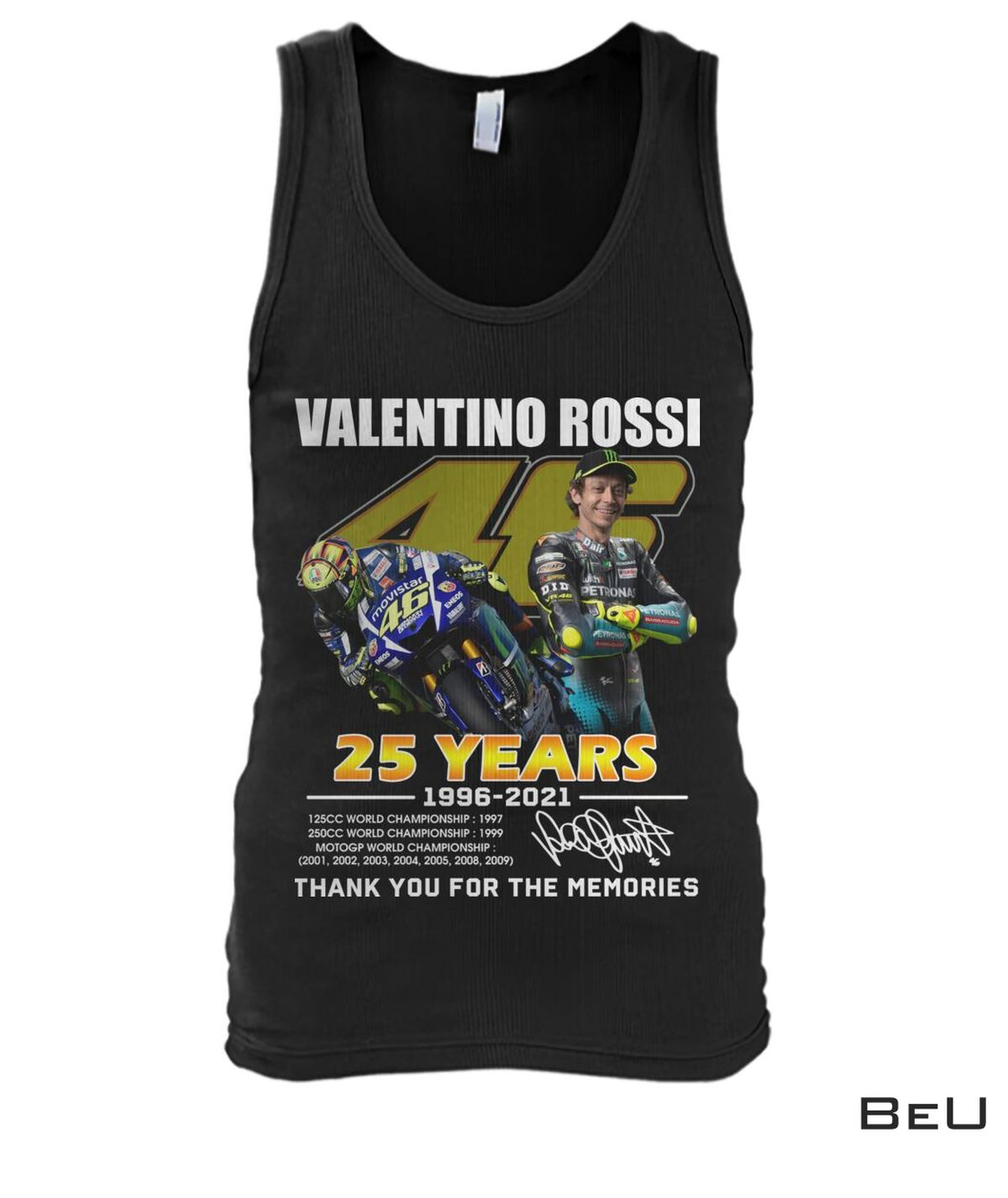 Valentino Rossi 25 Years Thank You For The Memories Shirt, hoodie ...