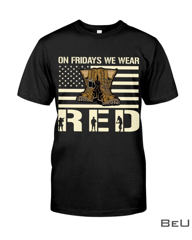 Veteran On Fridays we wear red shirt