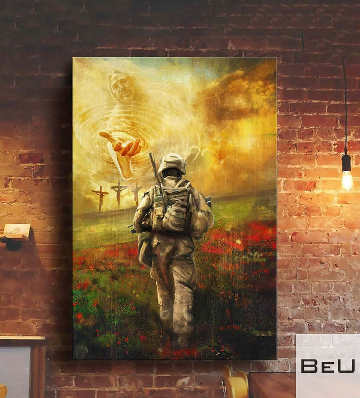 Veteran coming to Jesus to the beautiful world poster