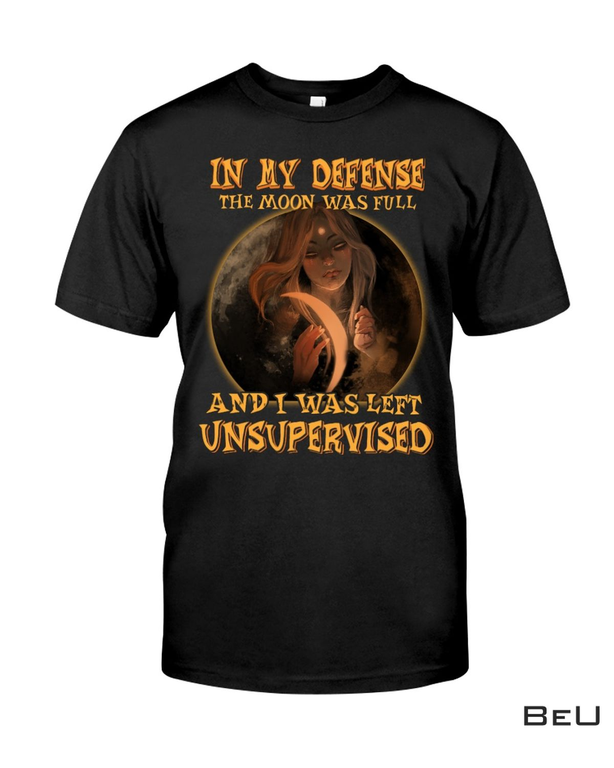 Drop Shipping Witch In My Defense The Moon Was Full Shirt, hoodie, tank top