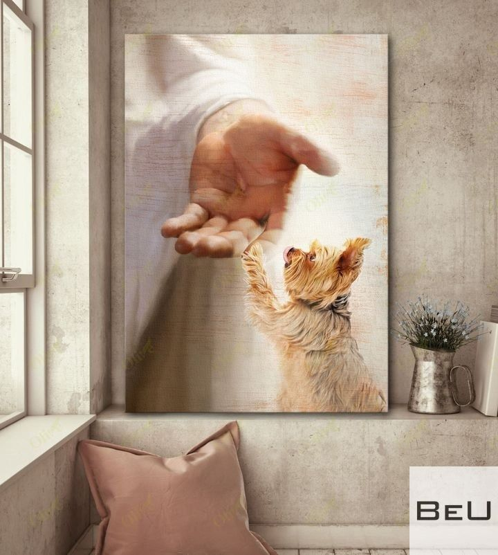 Yorkshire Terrier - Take my hand Jesus poster