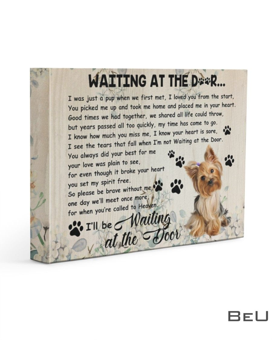 Yorkshire Terrier Waiting At The Door Canvas