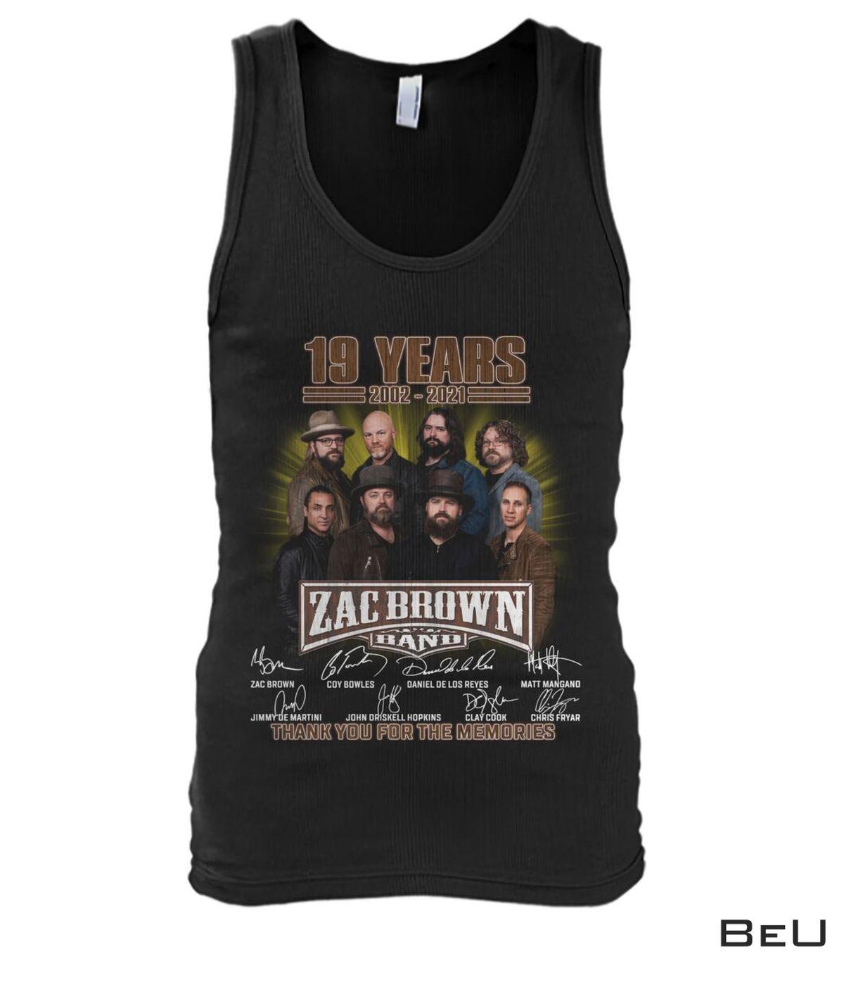 Print On Demand Zac Brown Band 19th Anniversary Shirt, hoodie, tank top
