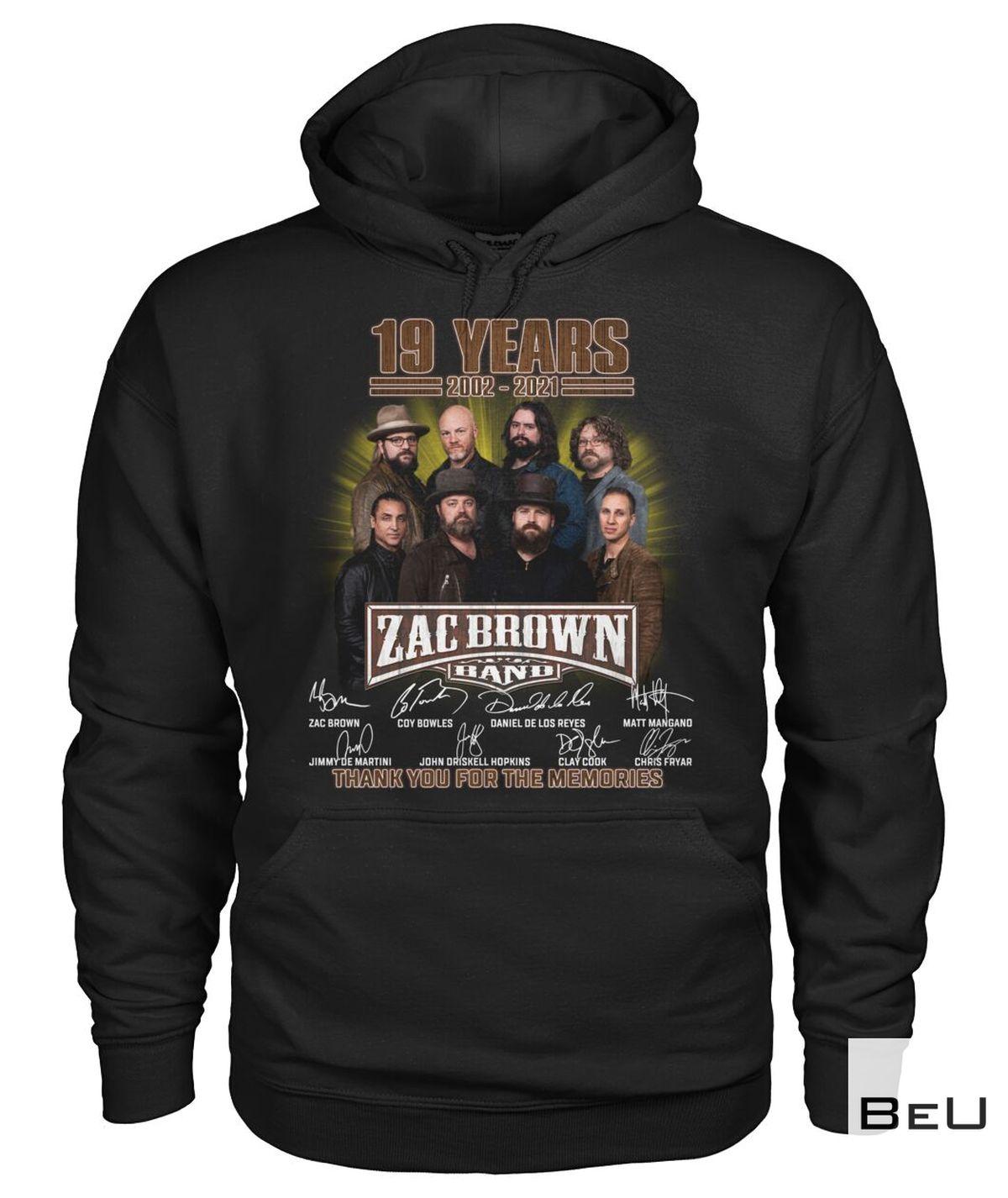 Beautiful Zac Brown Band 19th Anniversary Shirt, hoodie, tank top