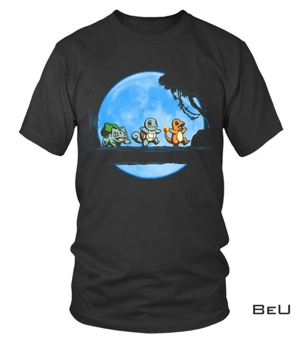 Pokemon Baby Bulbasaur Squirtle Charizard Blue Moon Shirt, hoodie, tank top