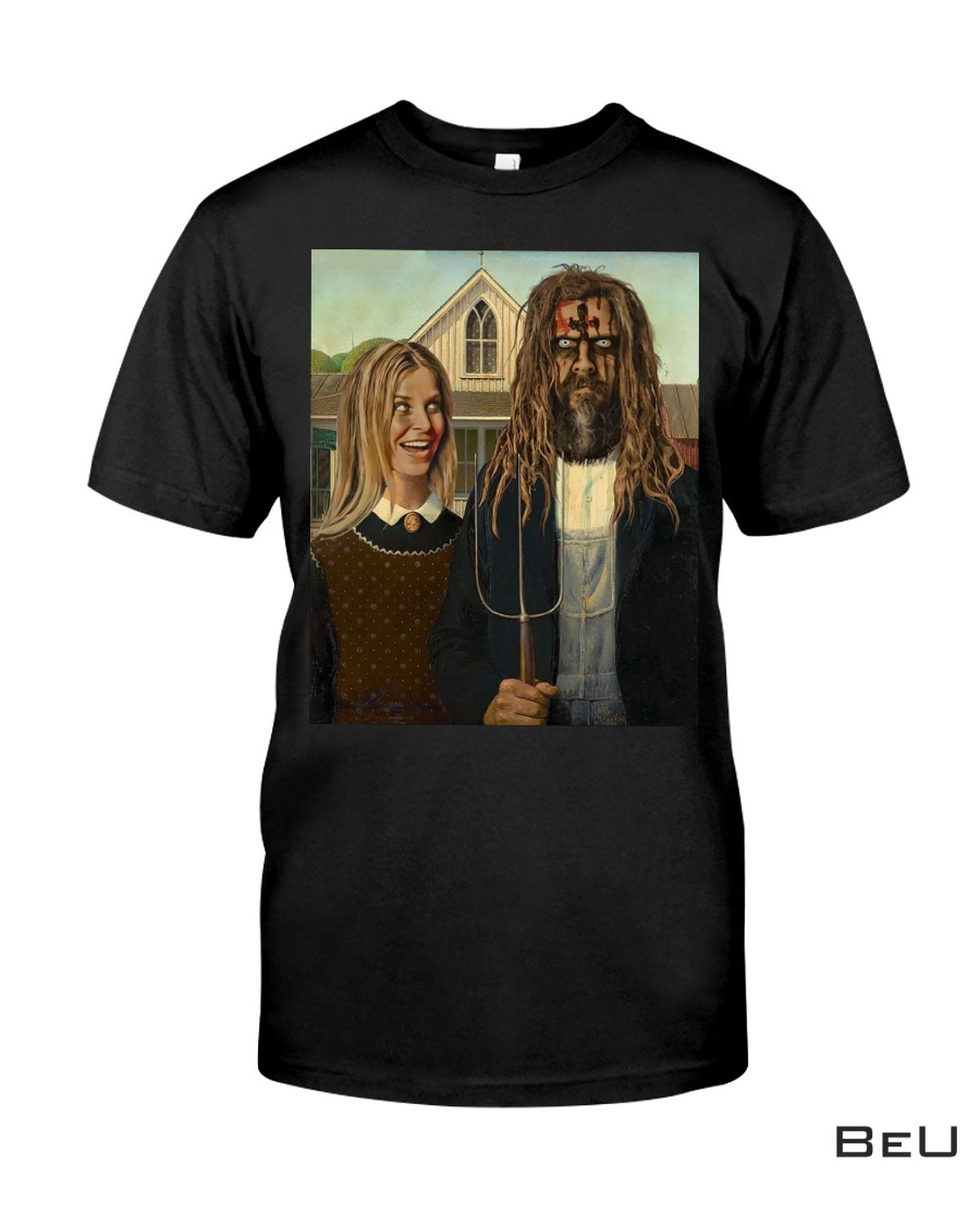 Grant Wood American Gothic 1930 Funny Shirt, hoodie, tank top