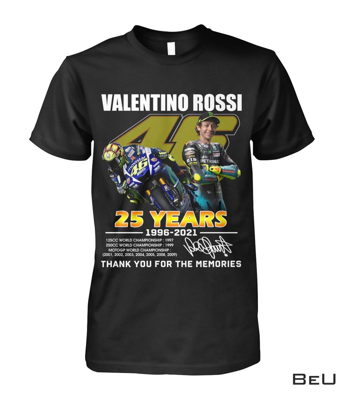 Valentino Rossi 25 Years Thank You For The Memories Shirt, hoodie, tank top
