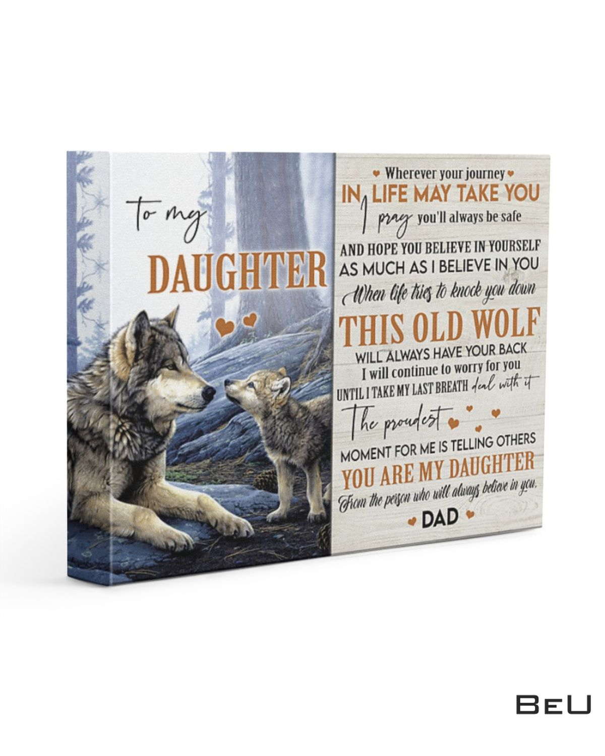 I Pray You'll Always Be Safe - Best Gift For Daughter Canvas