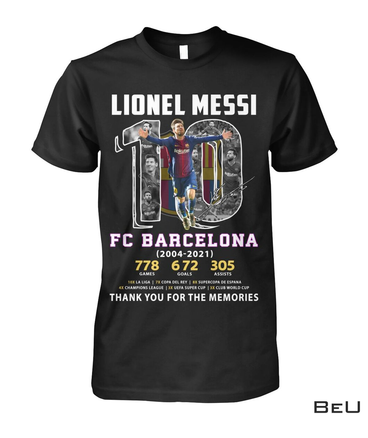 Lionel Messi 10 Fc Barcelona Thank You Shirt, hoodie, tank top