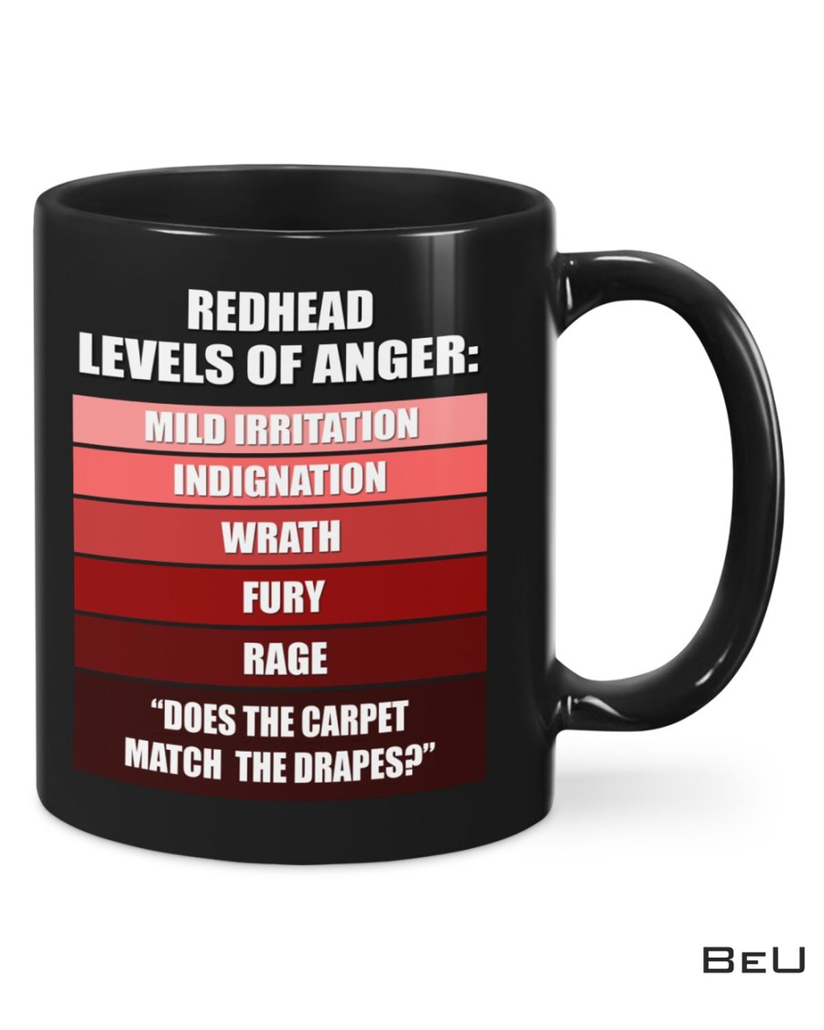 Redhead Levels Of Anger Does The Carpet Match The Drapes Mug