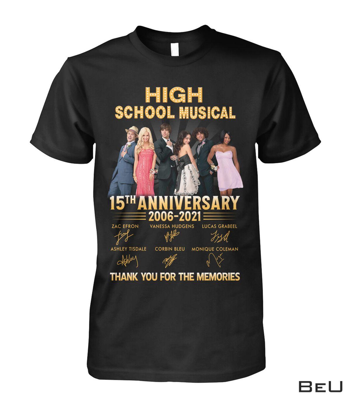 High School Musical 15th Anniversary Shirt, hoodie, tank top
