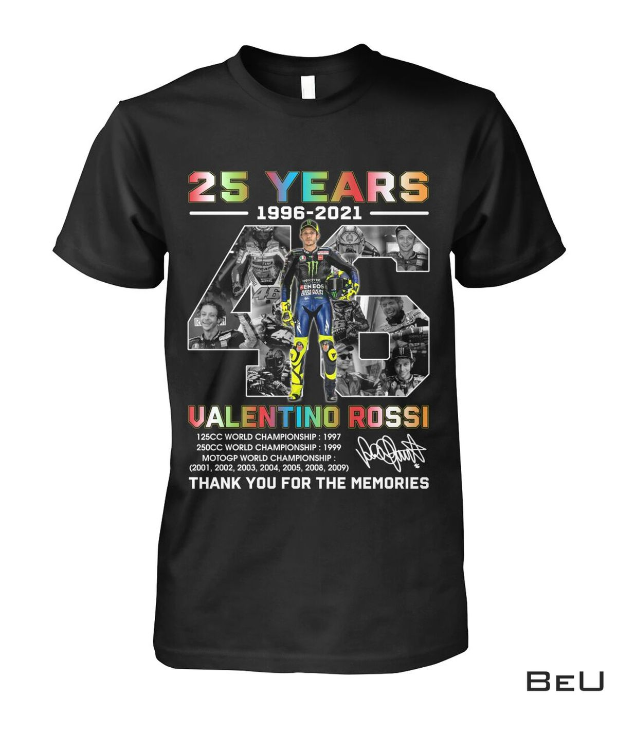 25 Years Valentino Rossi Thank You For The Memories Shirt, hoodie, tank top