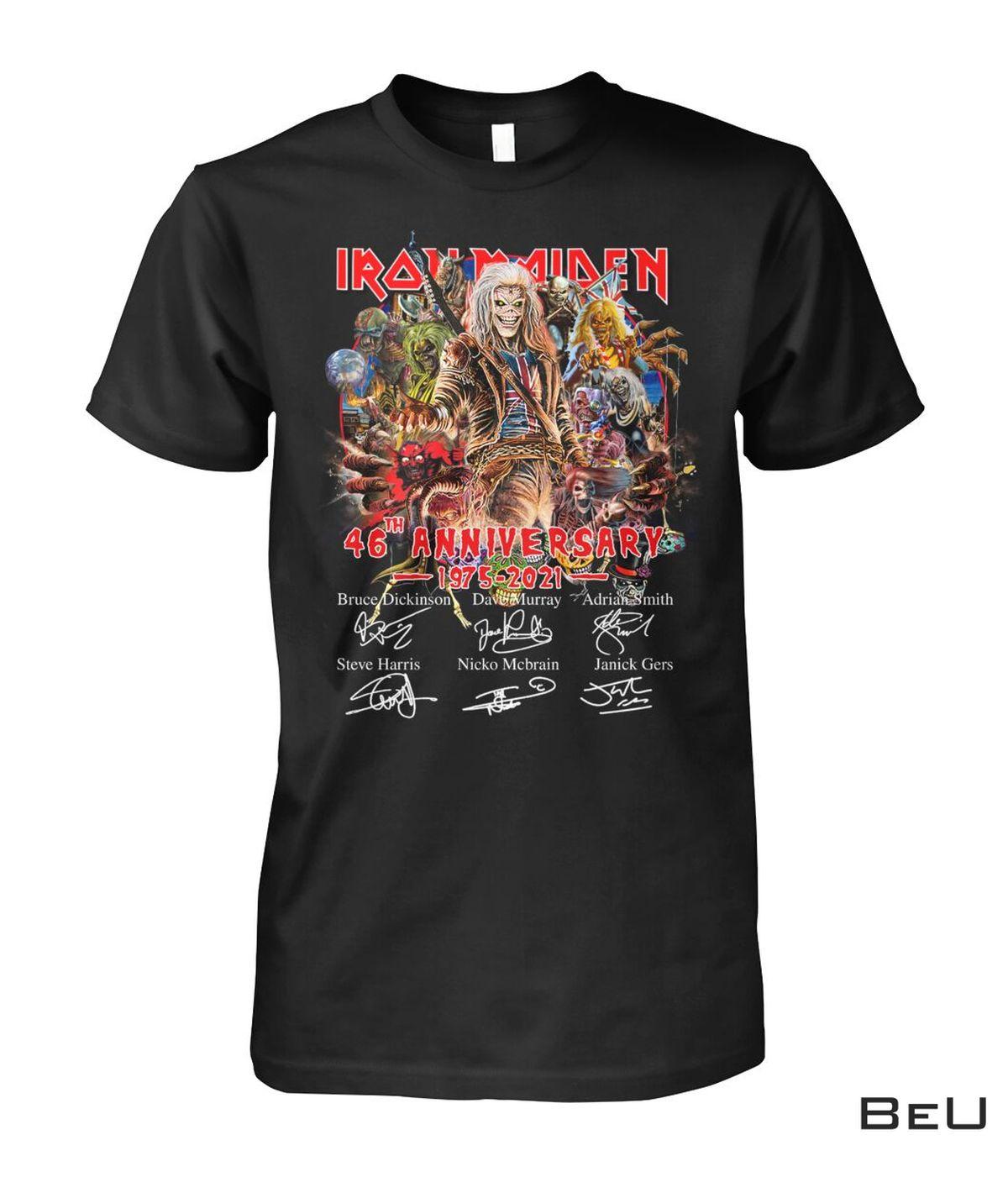 Iron Maiden 46th Anniversary 1975-2021 Shirt, hoodie, tank top