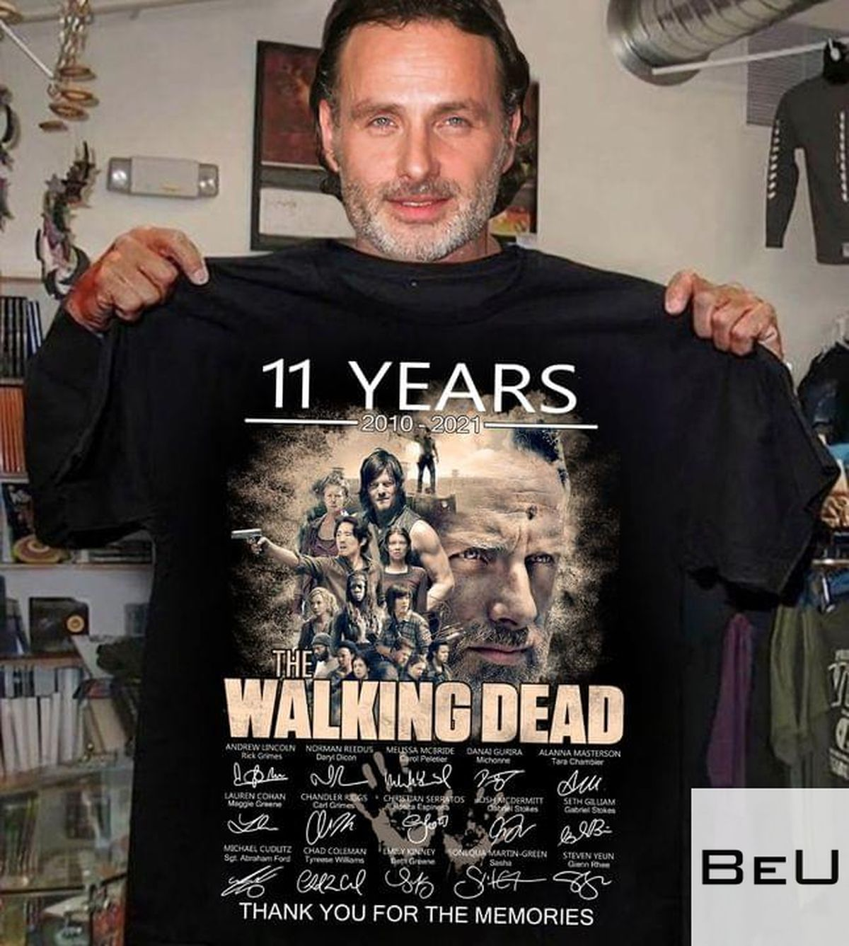 11 Years 2010 2021 The Walking Dead Thank You For The Memories Shirt v