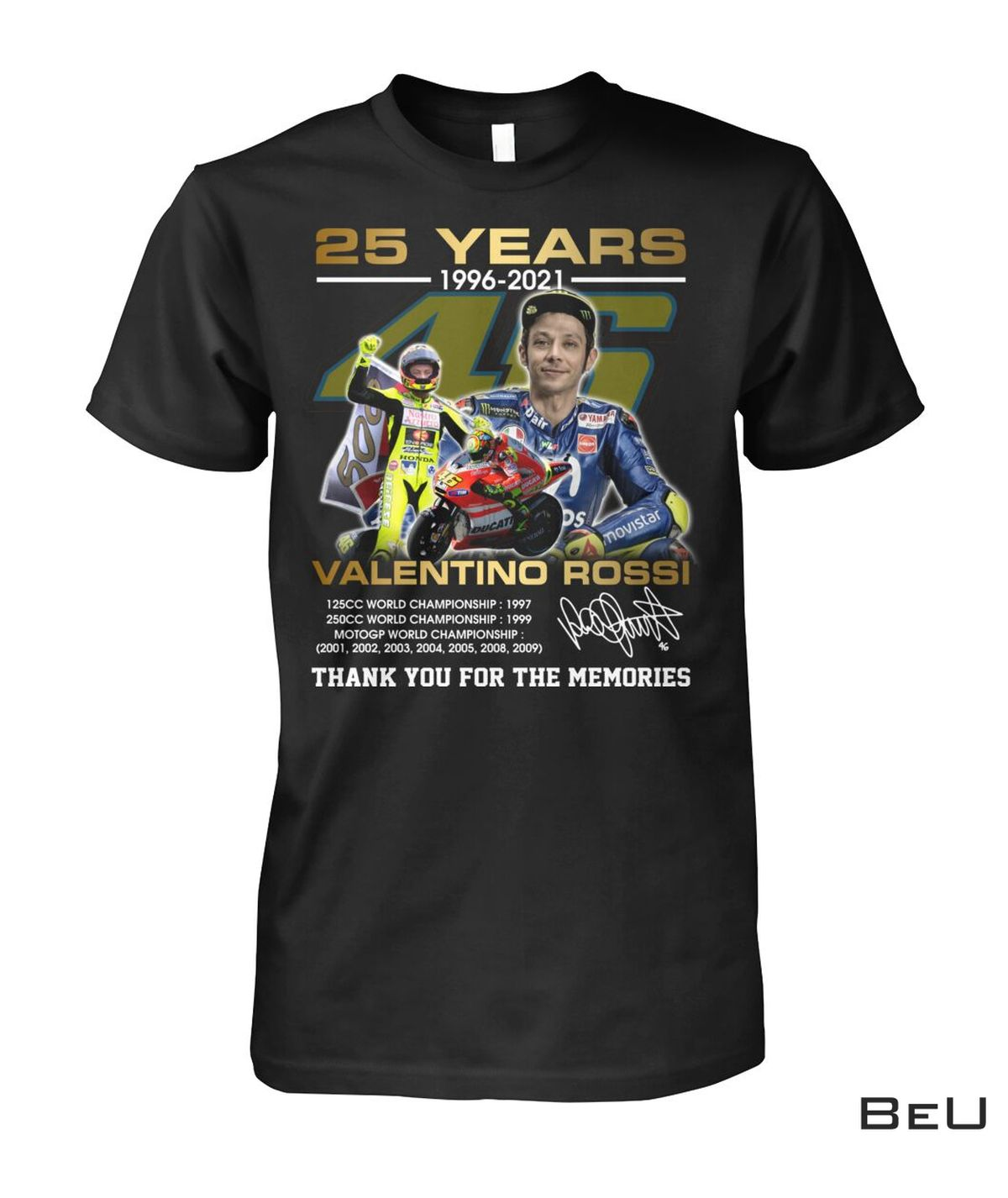 25 Years 1996-2021 Valentino Rossi Thank You For The Memories Shirt, hoodie, tank top