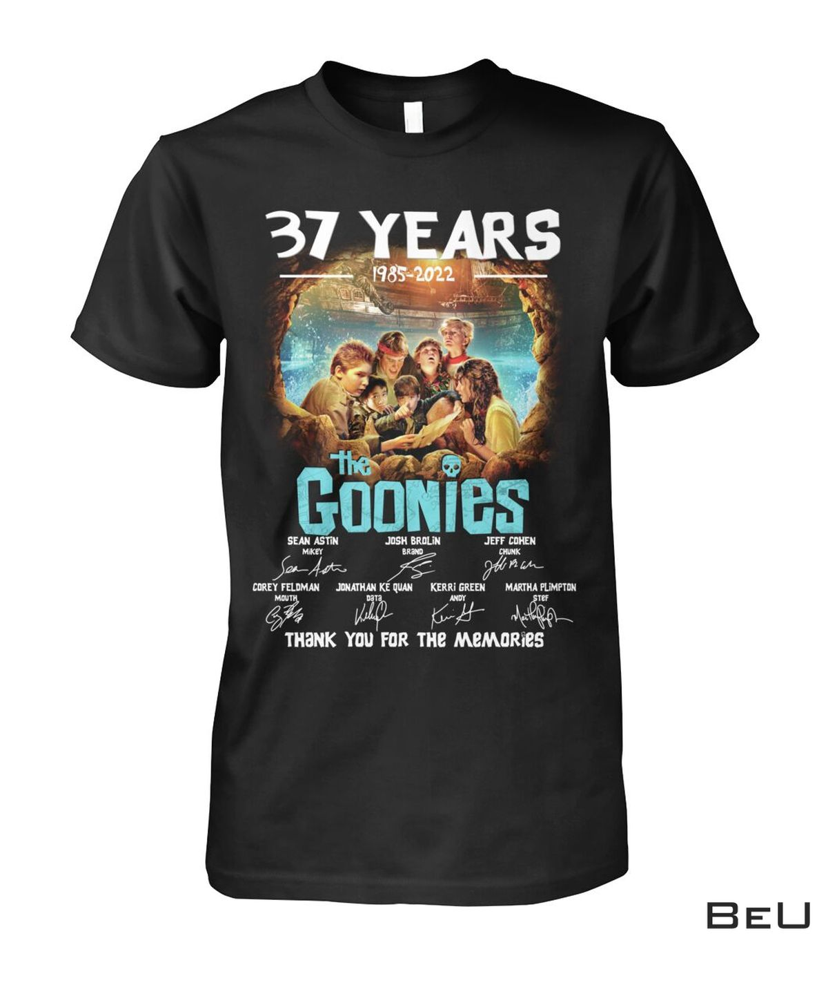 37 Years 1985 2021 The Goonies Thank You For The Memories Shirt