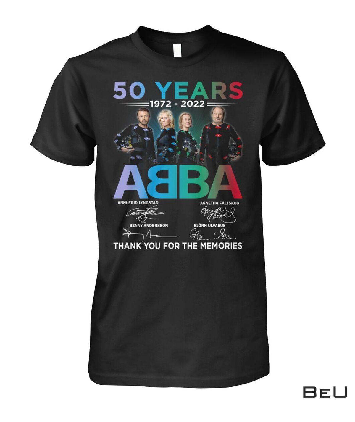 50 Years Of Abba 1972-2022 Shirt, hoodie, tank top