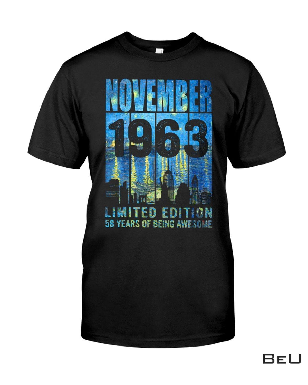 57th Birthday November 1963 Limited Edition Shirt, hoodie, tank top