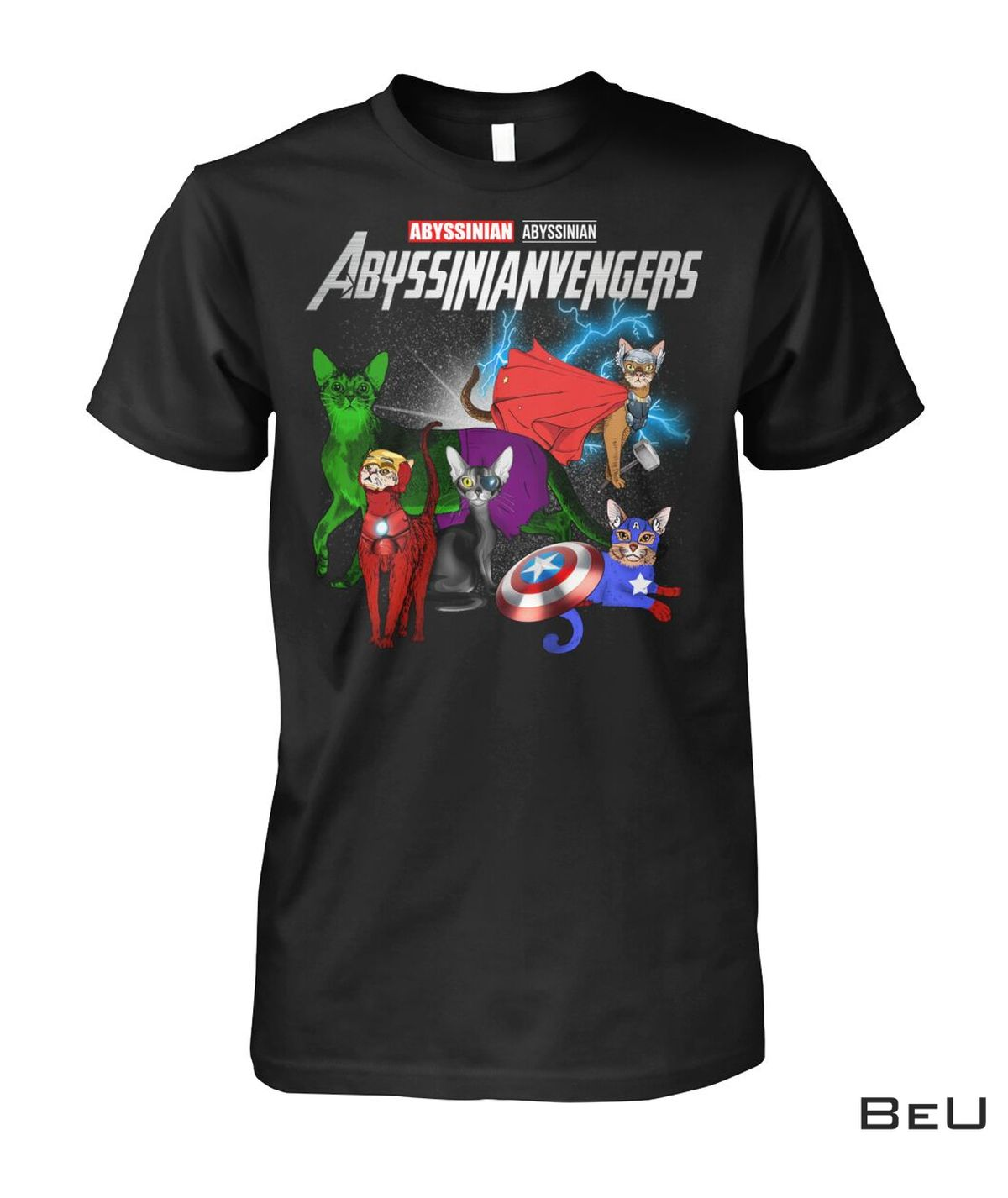 Abyssinianvengers Abyssinian Cat Avengers Shirt, hoodie, tank top