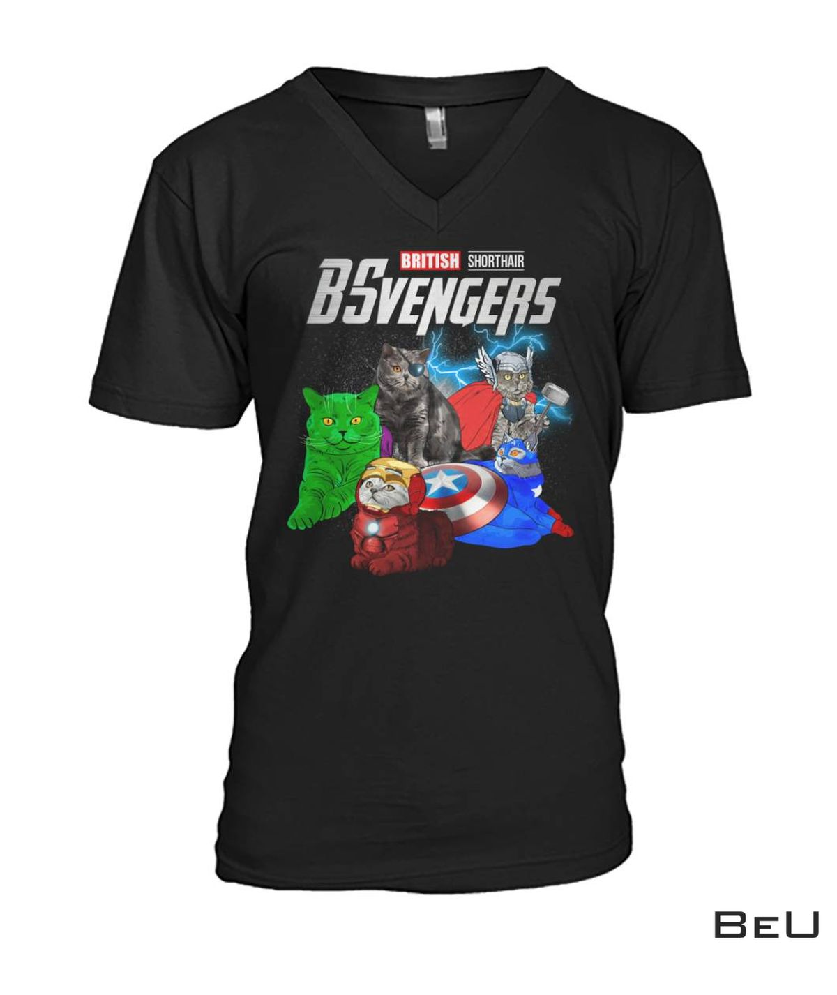 BSvengers British Shorthair Cat Avengers Shirt, hoodie, tank top