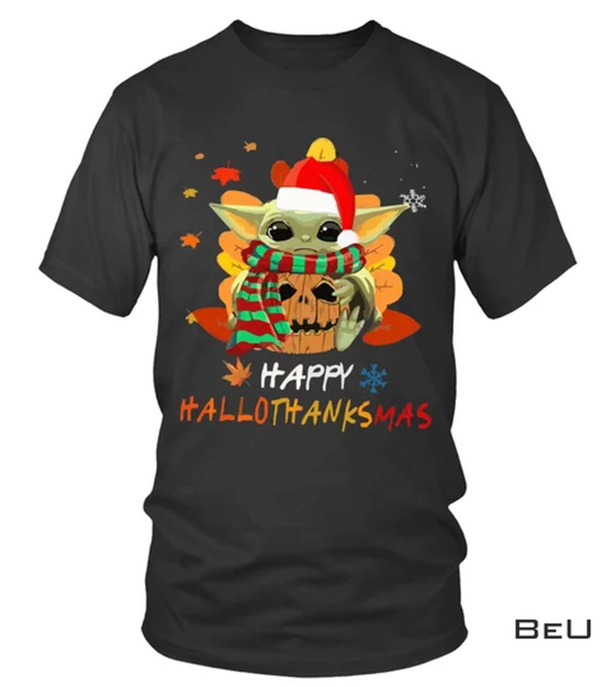 Baby Yoda Pumpkin Hallothanksmas Shirt