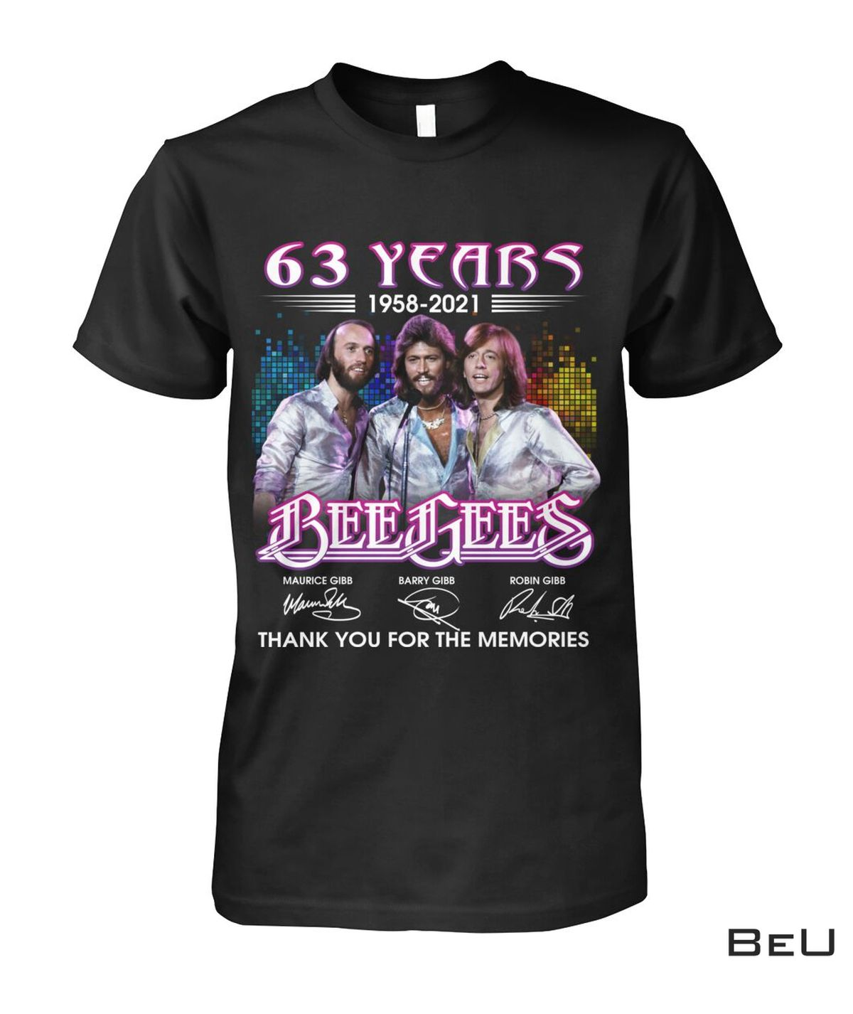 Bee Gees 63 Years Thank You For The Memories Shirt, hoodie, tank top