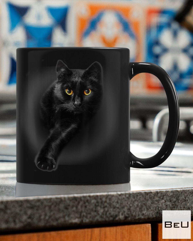 Hot Black Cat Black Mug
