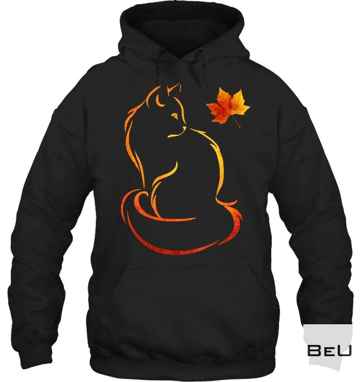 Adorable Cat Leaf Fall Shirt