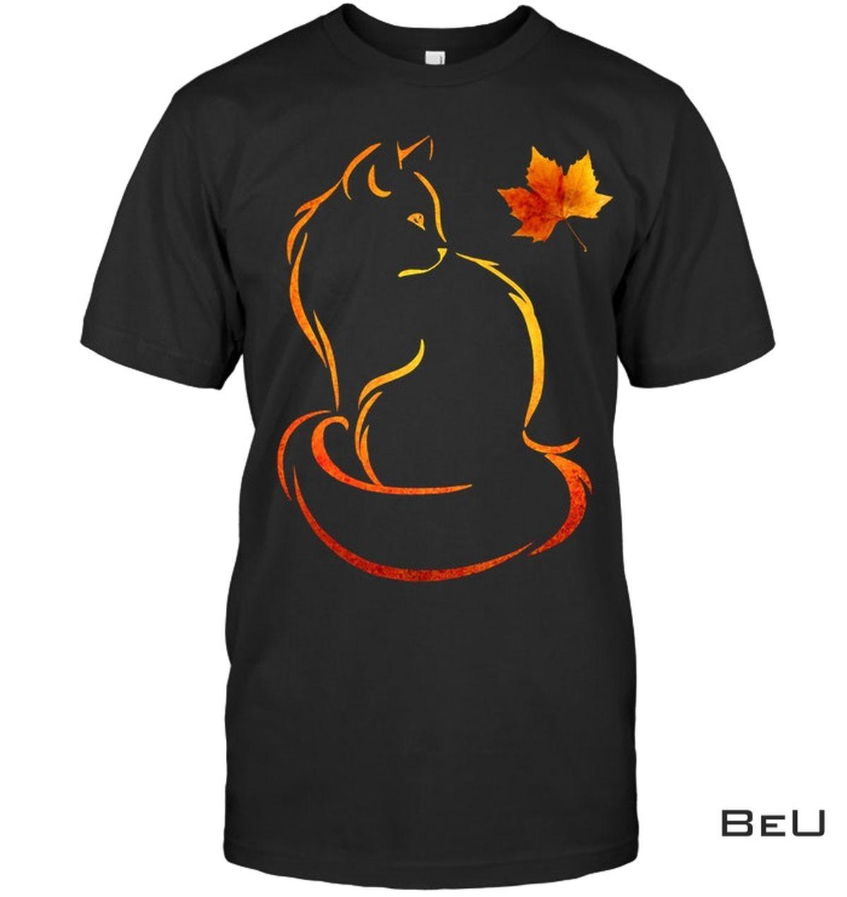 Cat Leaf Fall Shirt
